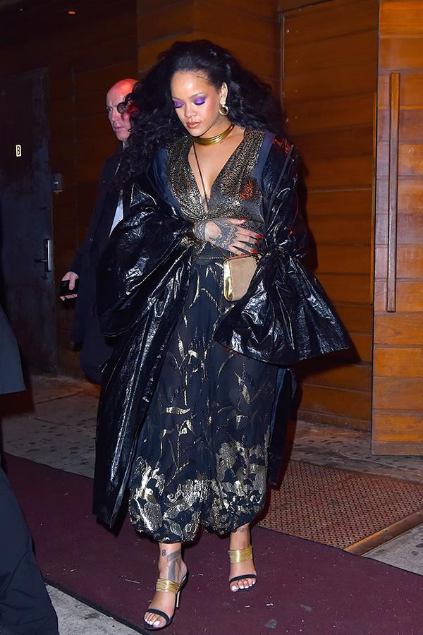 Rihanna was seen leaving 1-Oak nightclub where it was reported she partied with her beau Hassan Jameel.