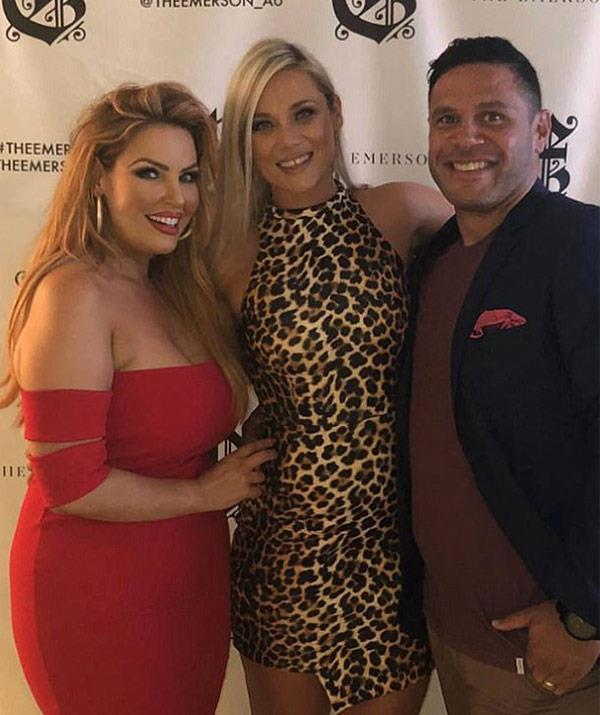 The MAFS couple pose with a pal at the Melbourne event.