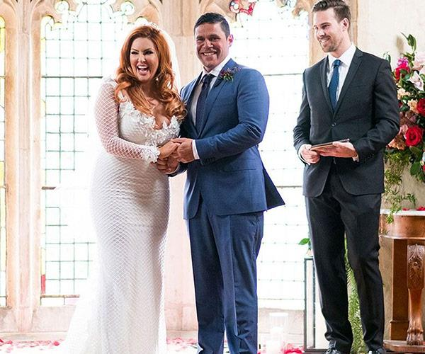 Sarah and Telv hit it off the second the met at the altar on their wedding day.