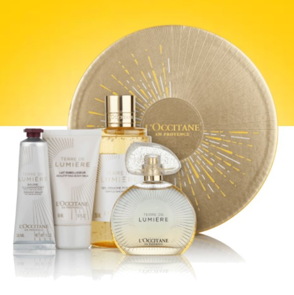"Terre De Lumiere Gold Collection, $189, from [L'Occitane](https://au.loccitane.com/terre-de-lumiere-gold-collection,23,1,89270,1160105.htm#s=64689|target=""_blank""