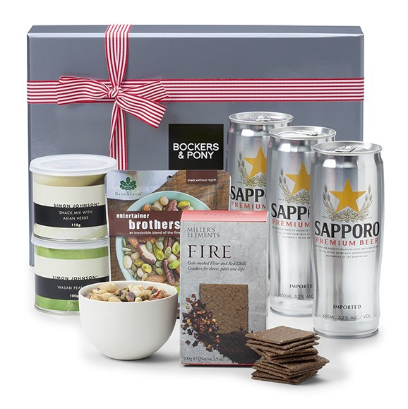 "Sapporo Beer Hamper, $99, from [Bockers And Pony](https://www.bockersandpony.com.au/sapporo-beer-hamper.html|target=""_blank""