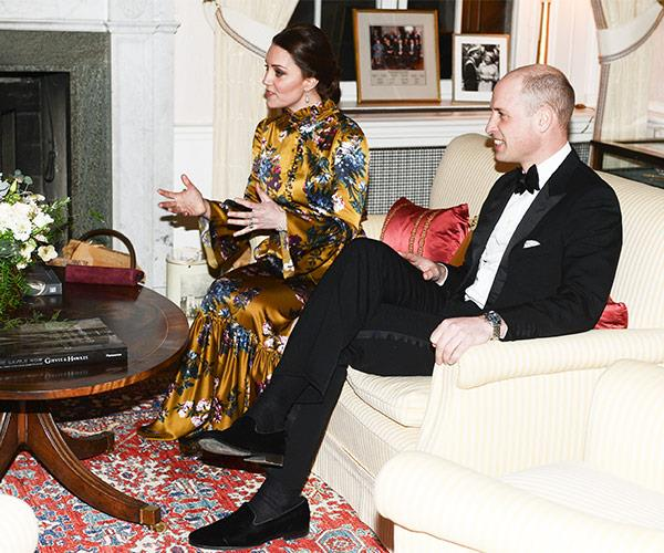 Before their meal, Kate and William met with the Prime Minister of Sweden Stefan Löfven.