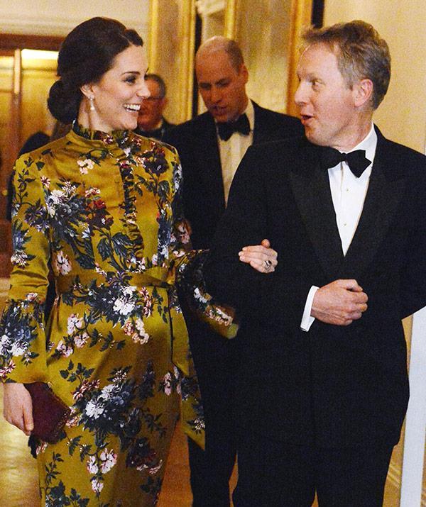 The Duchess was escorted to dinner by British Ambassador, David Cairns.