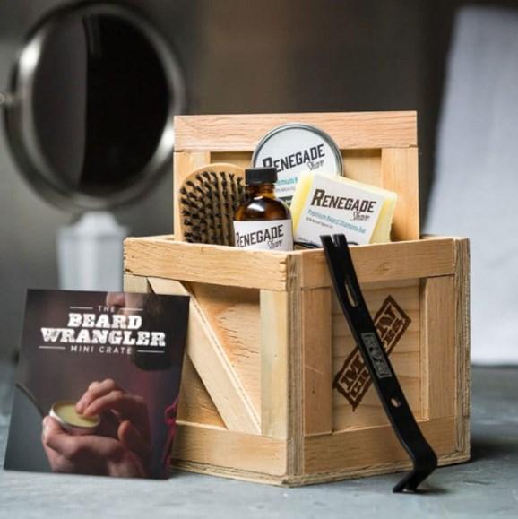"Beard Wrangler Mini Crate, $69.99, from [Man Crates](http://www.mancrates.com/store/products/beard-wrangler-mini-crate|target=""_blank""|rel=""nofollow"")."