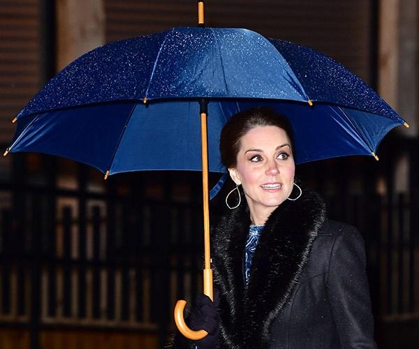 Kate's coat is by Swedish designer Ida Sjostedt.