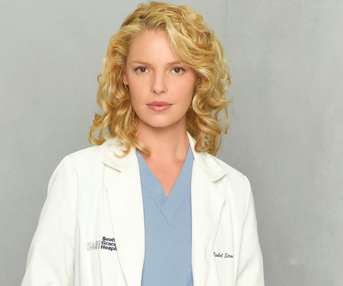Katherine played Dr Izzie Stevens for 6 seasons on *Grey's Anatomy*.