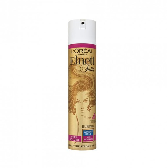 """Praised for it's superior holding quality, the Duchess's preferred hairspray, L'Oreal Paris Elnett Satin Supreme Hold Volume Hairspray, is available [at Priceline](https://www.priceline.com.au/l-oreal-paris-elnett-satin-supreme-hold-volume-hairspray-400-ml