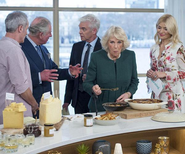 Duchess Camilla dives straight in.