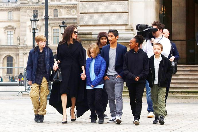 The super sweet family strolling in Paris.