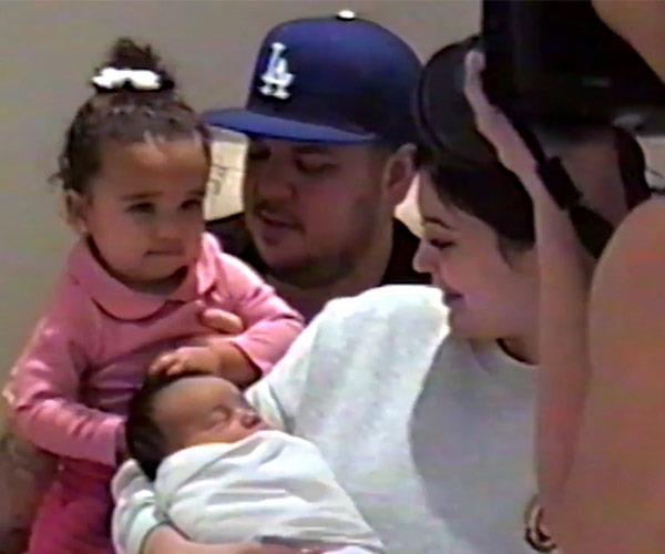One big happy fam! Rob Kardashian, his daughter Dream, Kylie and Chicago pose for a photo for shutterbug Kim.