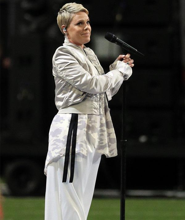 """""""If I've said it once, I've said it 1000 times. Pink sucks and if you like her singing you're dumb #SuperBowl,"""" King_Sullivan penned."""