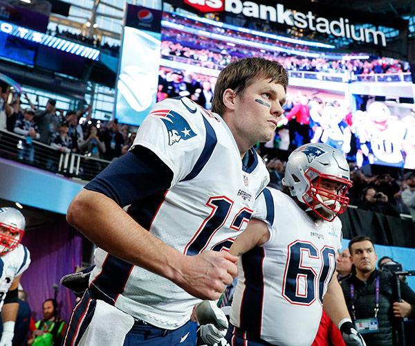 New England Patriots' Quarterback Tom Brady looks ready for war!