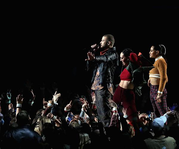 """14 years after his controversial Super Bowl performance with [Janet Jackson,](https://twitter.com/THR/status/960325355943837697