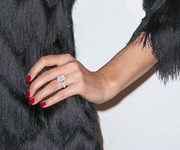 Jasmine's blinding engagement ring.