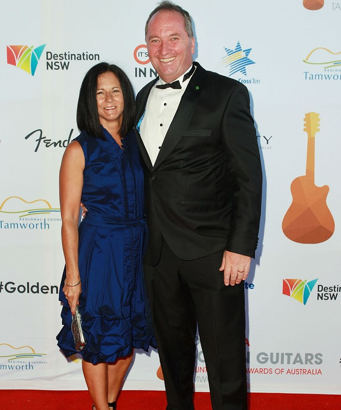 Mr Joyce is pictured with his former wife of 24-years, Natalie.