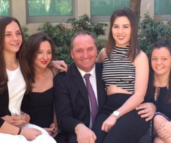 Barnaby and his daughters.