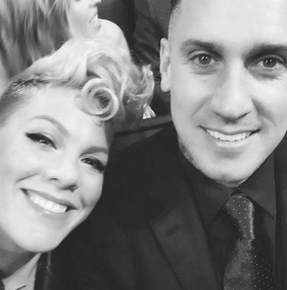 Pink and Carey met at ESPN's Summer X Games in 2001, where Carey was competing in a freestyle motocross event.