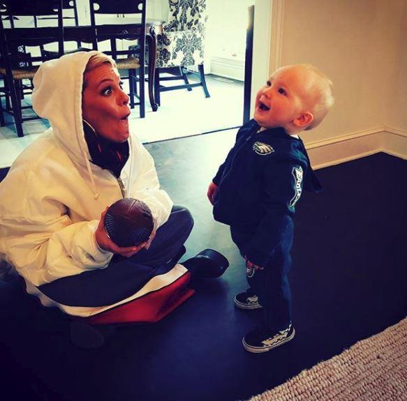 Same goes for Pink and Carey's little boy, Jameson Moon. *(Image: Instagram @pink)*