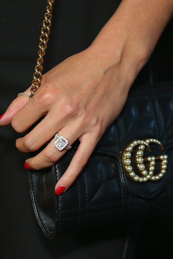 Jasmine paired her new bling with an equally luxurious Gucci handbag.