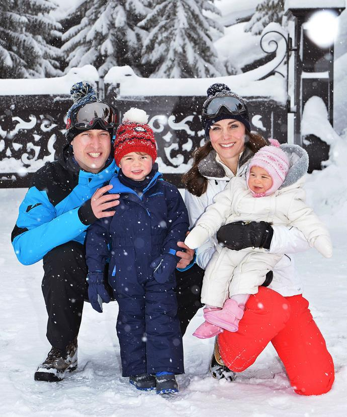 The doting parents have previously used their winter break to take their little ones skiing.