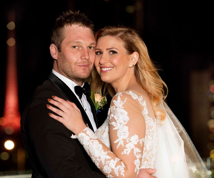 Mat and Alycia on their wedding night