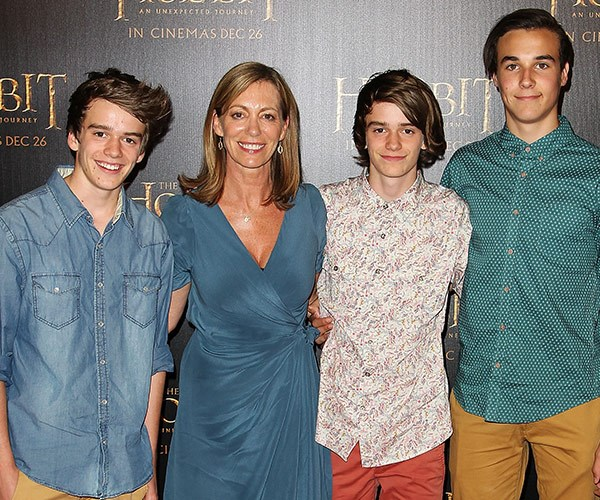 Kerry with her three sons (L-R) Jai, Callum and Sam.