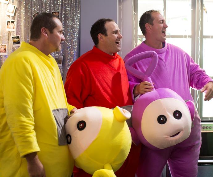 Eh-oh! It's the Teletubbies but where is is Dipsy?
