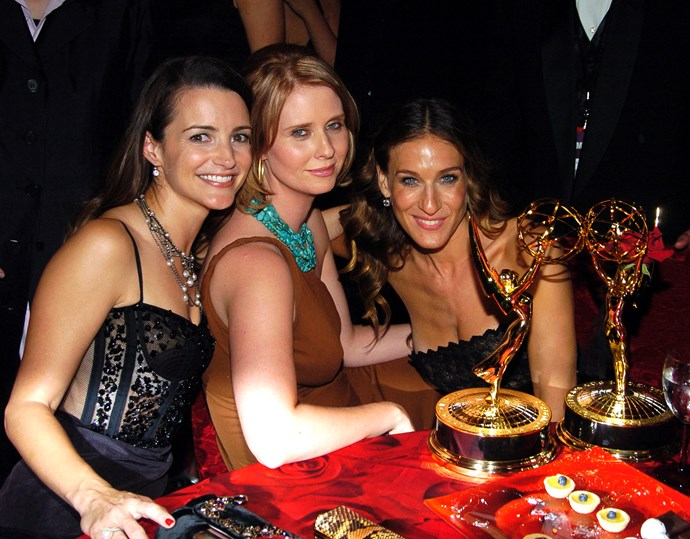 "**September 2004:** While Sarah Jessica, along with Cynthia Nixon and Kristin Davis, were seen celebrating the hit show's big Emmys wins of the year at a HBO afterparty, Cattrall was nowhere to be seen with her three co-stars. (Notably, Cattrall also didn't sit with SJP, Cynthia and Kritsin during the Emmys, themselves.) When quizzed about this following the event, [Cattrall said](http://www.marieclaire.com/celebrity/g17008495/sarah-jessica-parker-kim-cattrall-sex-and-the-city-feud-timeline/|target=""_blank""): ""Are we best friends? No. We're professional actresses. We have our own separate lives."""