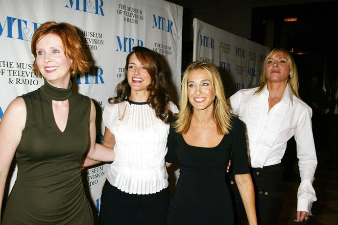 **February 2004:** *SATC* showed its final episode after six seasons of production. The first *SATC* movie was supposed to start filming soon after the show wrapped up but rumours swirled that the delay in shooting it came down to salary negotiations – namely Cattrall asking for a raise on account of SJP being promoted to executive producer after Season Two. As reported by *The Telegraph* four years later, it was Cattrall's move to ask for more money that caused SJP, Kristin Davis and Cynthia Nixon to distance themselves from Cattrall.
