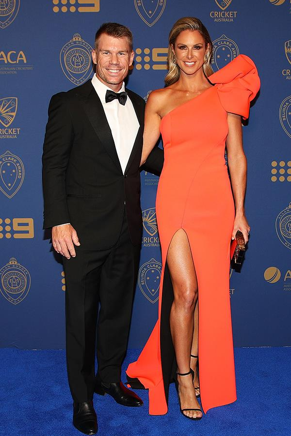 Candice Warner supported her husband, vice-captain David Warner, who missed out on the top-nod of the night.