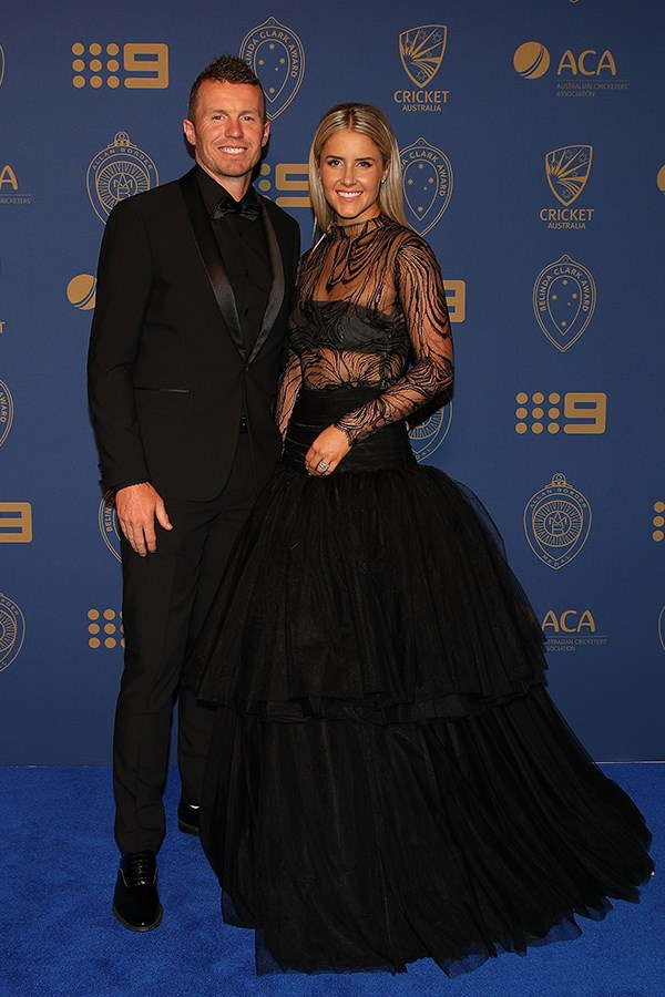 Peter Siddle and Anna Weatherlake took a walk on the dark side for the night.