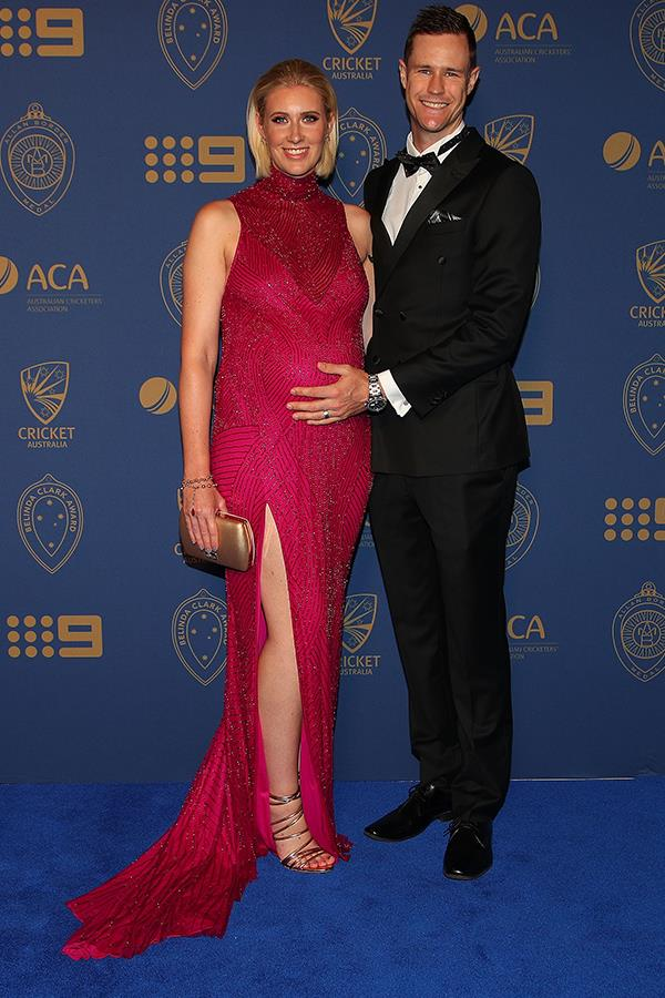 Jason Behrendorff and his wife Juvelle had plenty to celebrate at the Allan Border Medal.