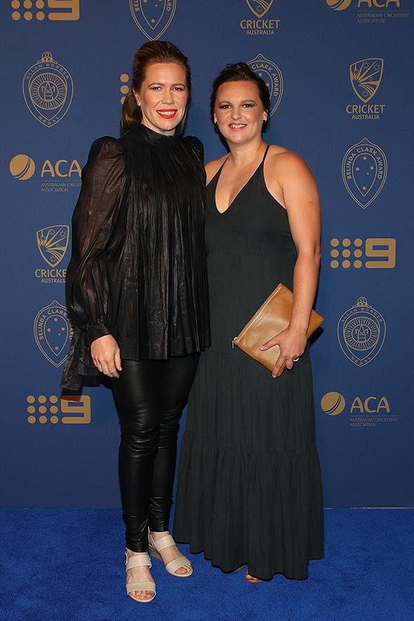 Australian cricketer Alex Blackwell and her partner English cricketer Lyndsey Askew celebrated the night in style.