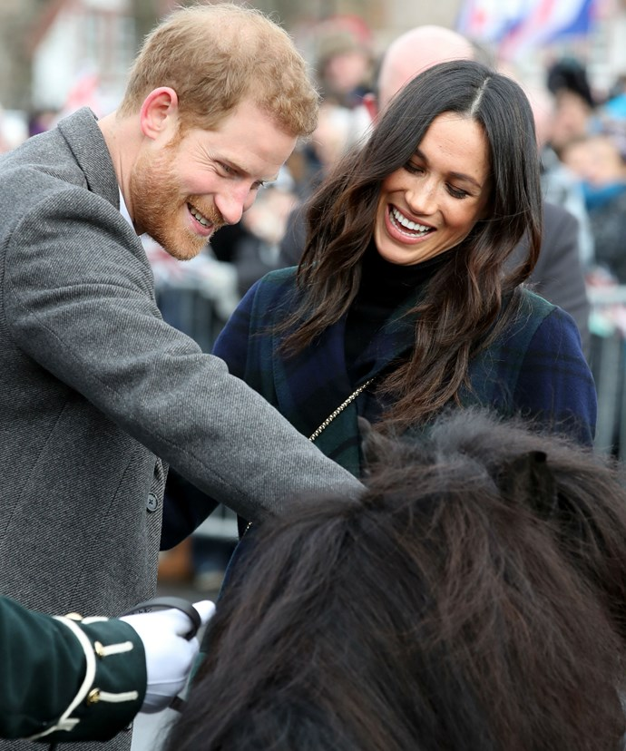 And the cheeky thing tried to take a nibble on the ginger-haired prince.