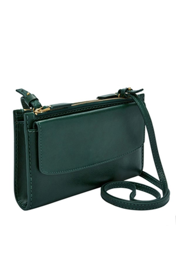 "Sage Zip Crossbody Bag By Fossil, $199 from [Myer](https://www.myer.com.au/shop/mystore/handbags/fossil-slg1090307-sage-zip-crossbody-bag|target=""_blank""