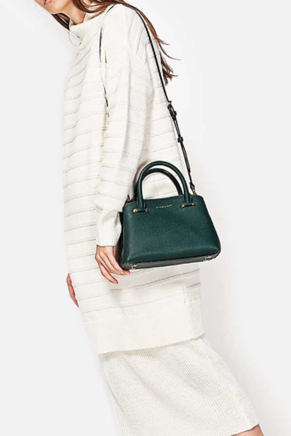 "Basic City bag, $79 from [Charles and Keith](http://www.charleskeith.com/au/bags/basic-city-bag-green-ck2-50780380.html|target=""_blank""