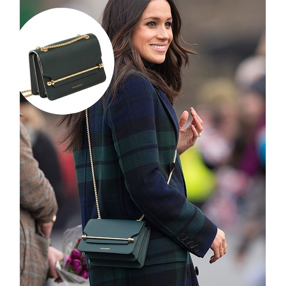 It's the Meghan effect! The soon-to-be royal's Strathberry handbag sold-out after her appearance in Scotland.