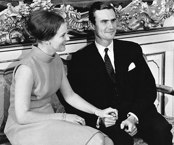 At the time of his engagement to Queen Margrethe, on October 5 1966.