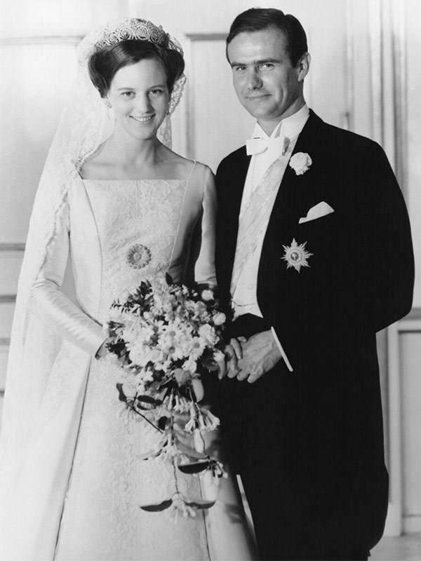 He famously married Denmark's future Queen Margrethe in 1967.