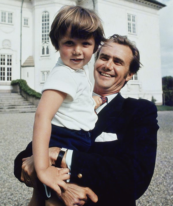 A young Prince Frederik with his father in 1972.