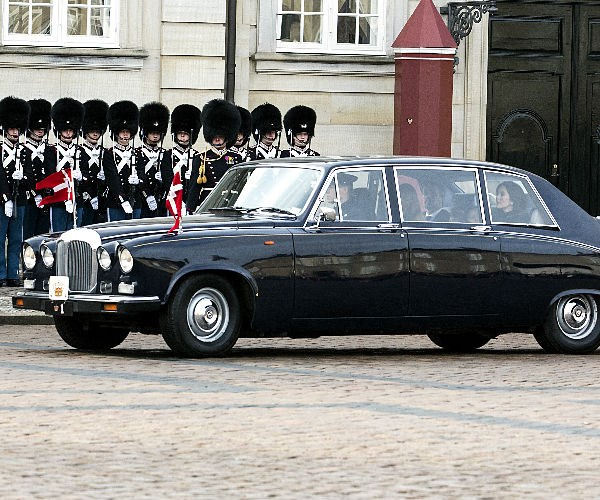 The Danish royals rode in convoy as they escorted Prince Henrik's casket from Fredensborg Castle -- where he died on Tuesday at age 83 -- to Amalienborg Palace in Copenhagen.