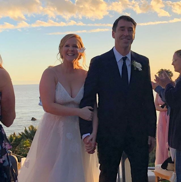 Amy and Chris married in a sunset ceremony in Malibu.