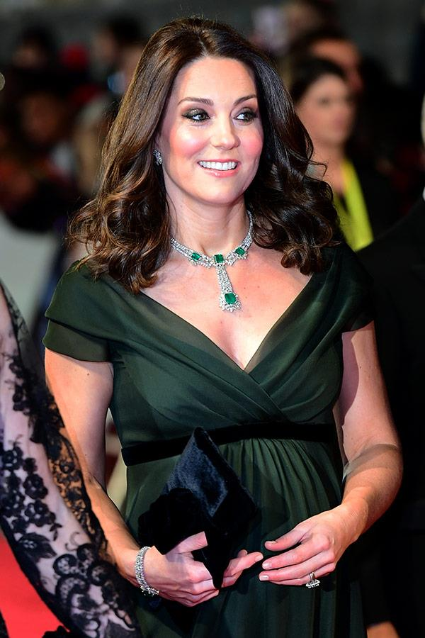 Catherine turned to Jenny Packham to dress her.
