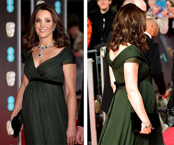 And her bump took centre stage.