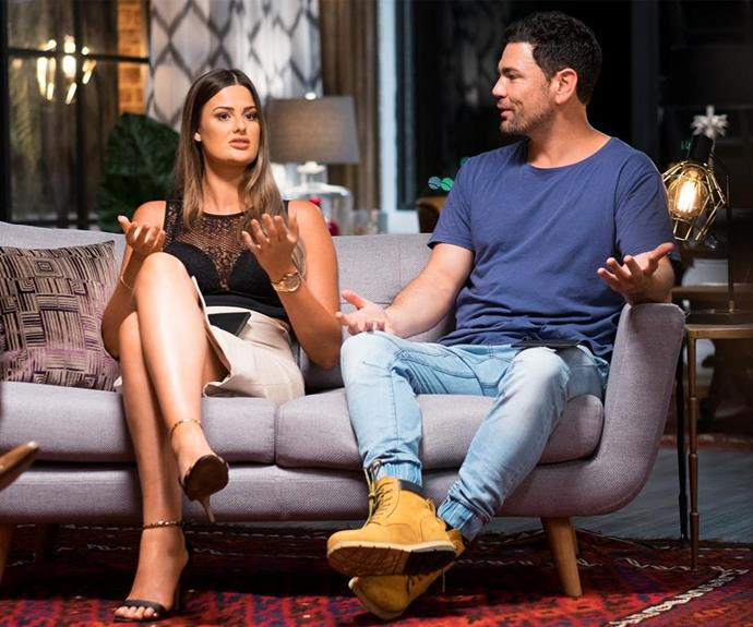Cheryl and Andrew re-entered the competition together but left single. *(Image: Channel Nine)*