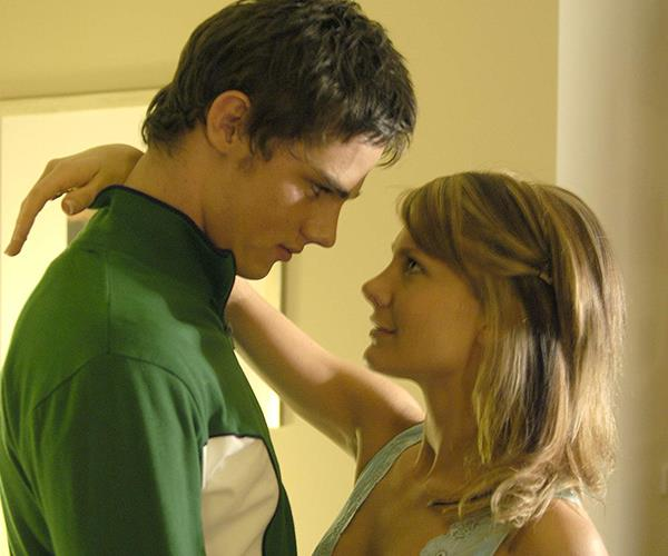 """**SEDUCING JACK, 2003:** """"I was definitely looking after myself in the fitness department leading up to it [filming the steamy scenes with Jay Ryan, who played Jack]. Whether it's a kissing or bedroom scene, I have to stop myself from giggling – that's how I handle the nervousness. It's not fun, let me tell you – you just have to get into a zone."""""""