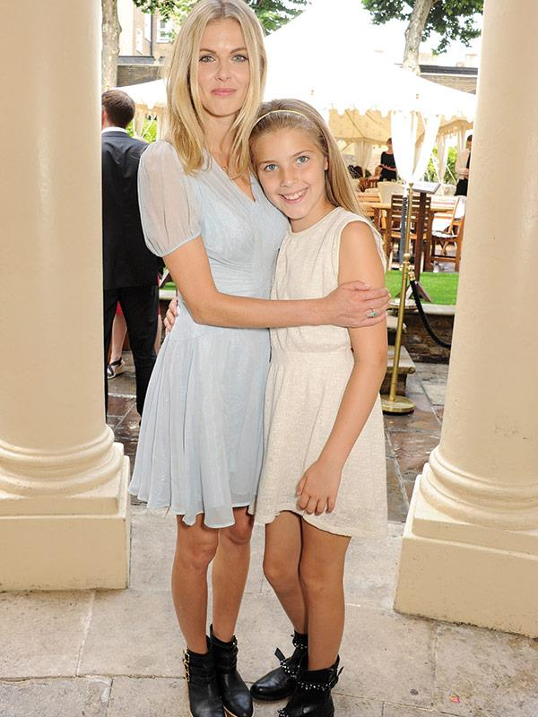 With her 14-year-old daughter, Freya.