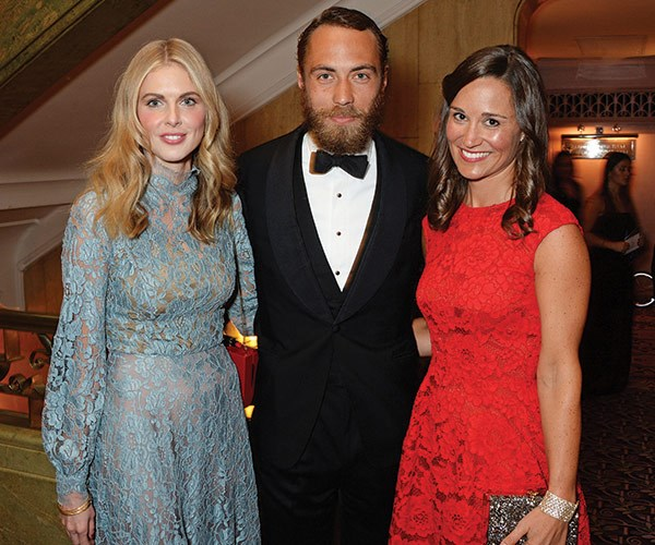 Pictured with Pippa Middleton.