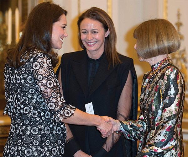 When British and fashion royalty collide: Kate meets Anna Wintour.