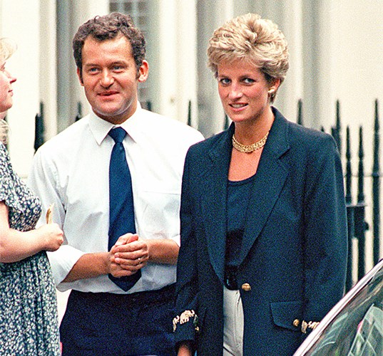 Paul with Princess Diana in 1994.